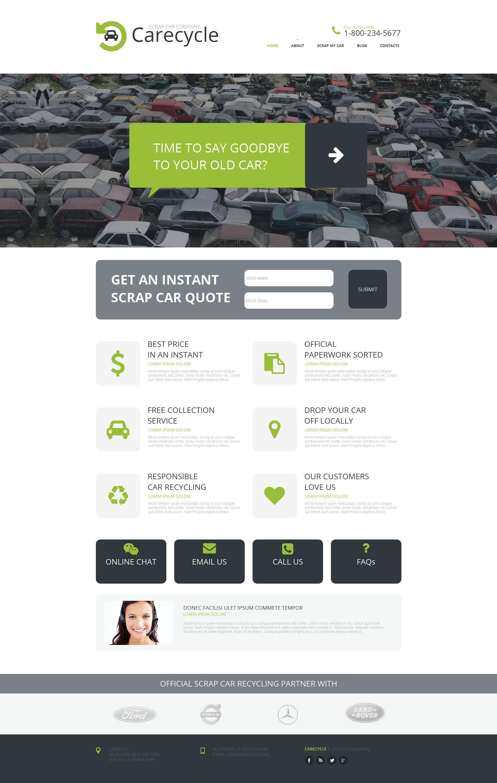Car Scrap Yard Moto CMS HTML Template
