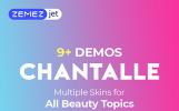 Chantalle - Tema WordPress polivalente con Elementor para sitio de moda para mujeres