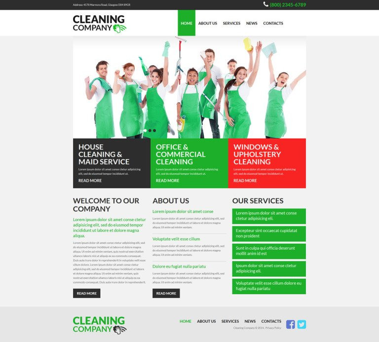 Cleaning Services Joomla Template New Screenshots BIG