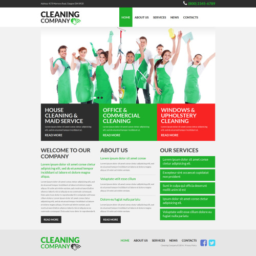 Cleaning Company - Joomla! Template based on Bootstrap