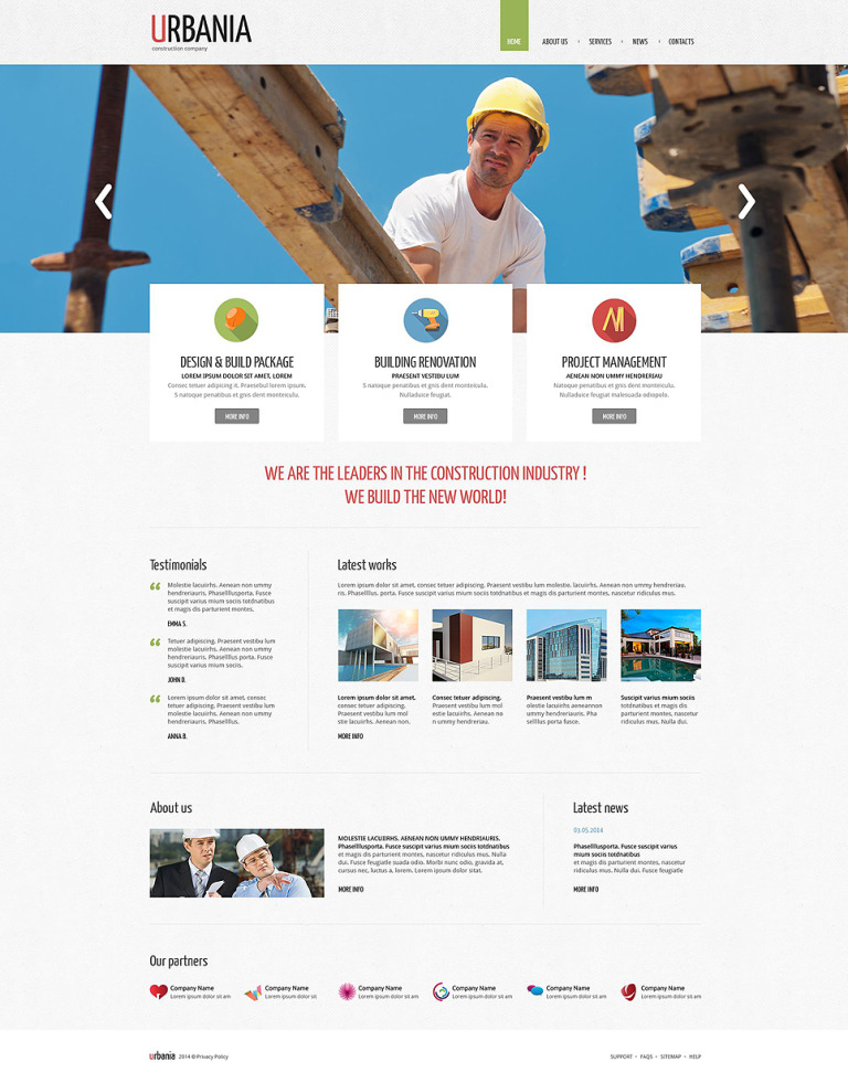 Construction Company Responsive Drupal Template New Screenshots BIG