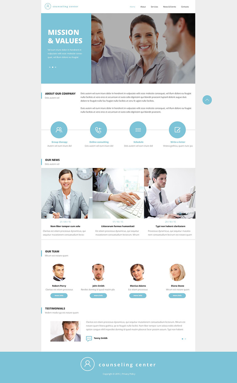 Counseling Responsive Website Template New Screenshots BIG