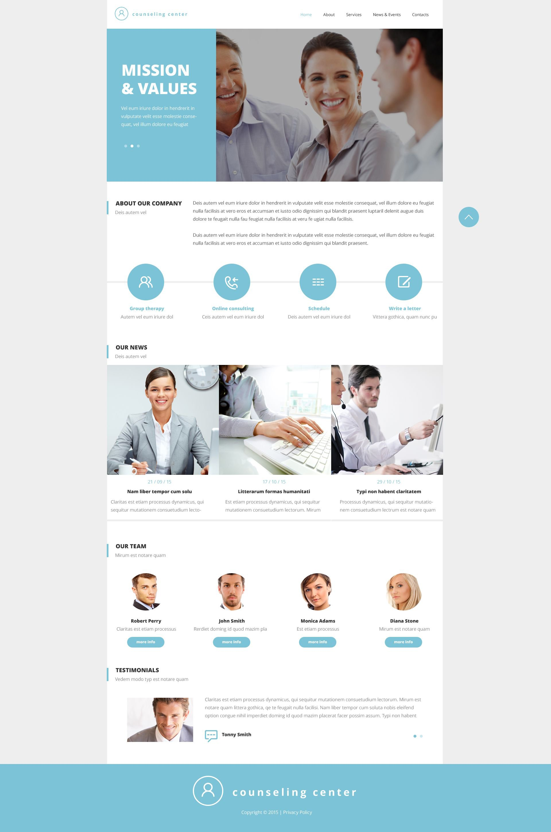 Counseling Responsive Website Template #52662