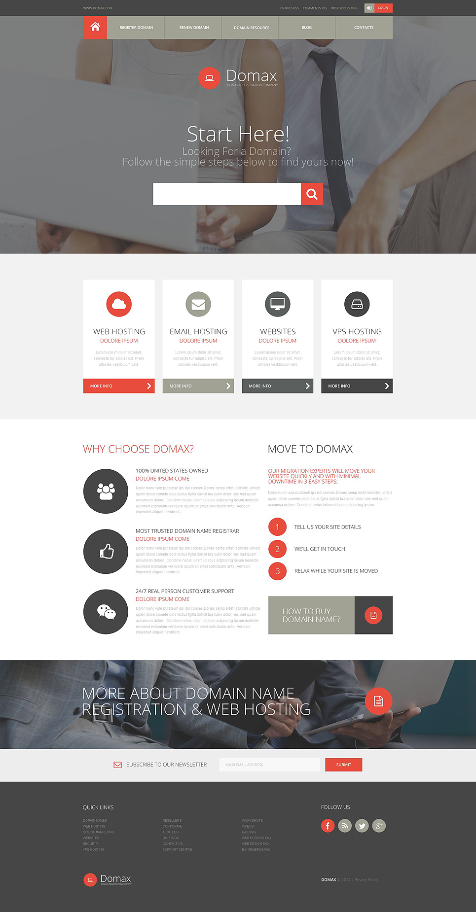 Domain Registration Website Template #52635