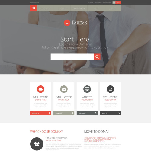 Domax - Responsive Website Template