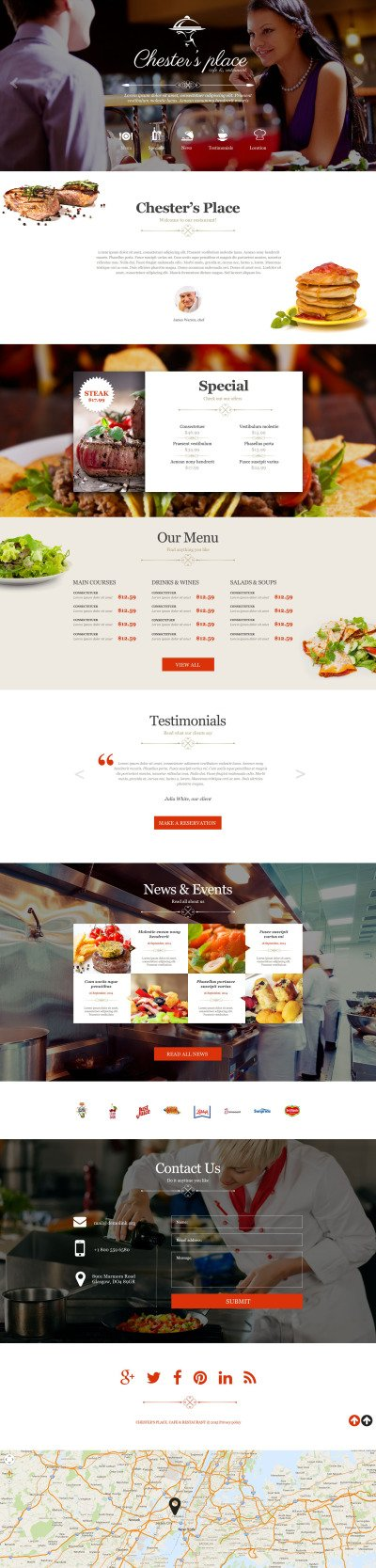 European Restaurant Muse Template #52601