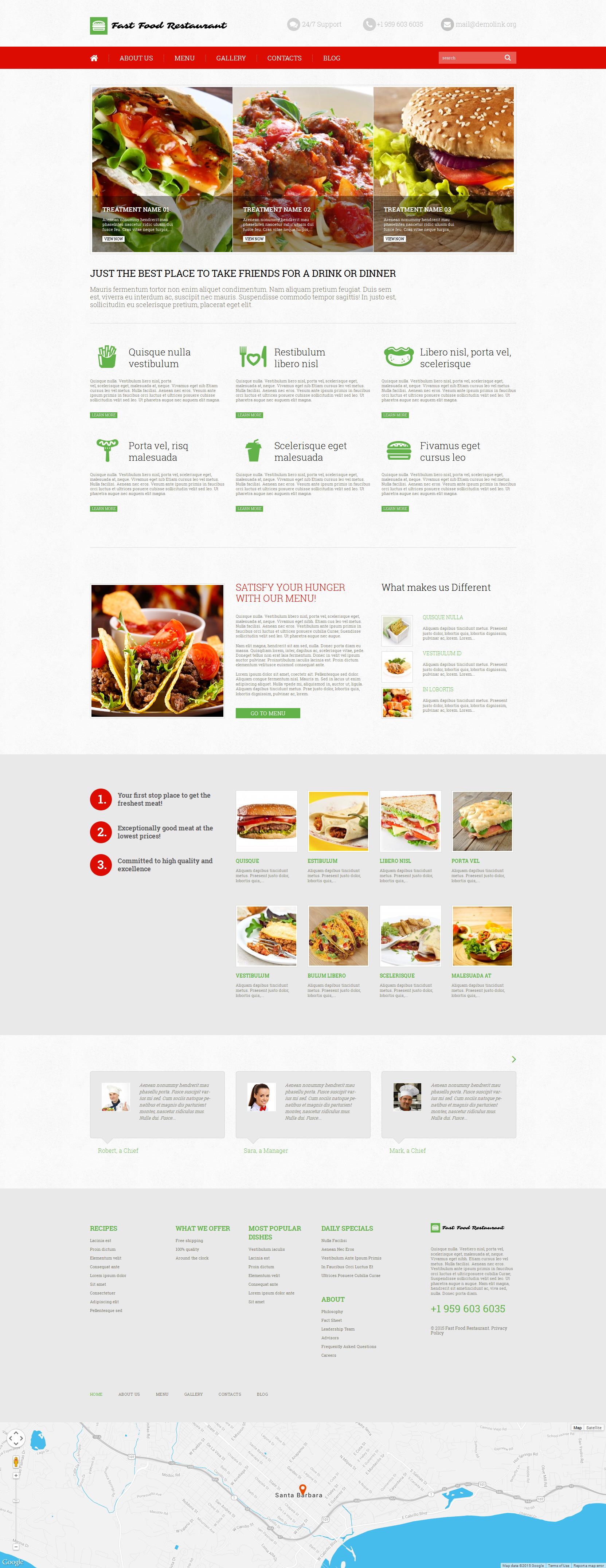 """""""Fast Food Restaurant"""" thème WordPress adaptatif #52640"""