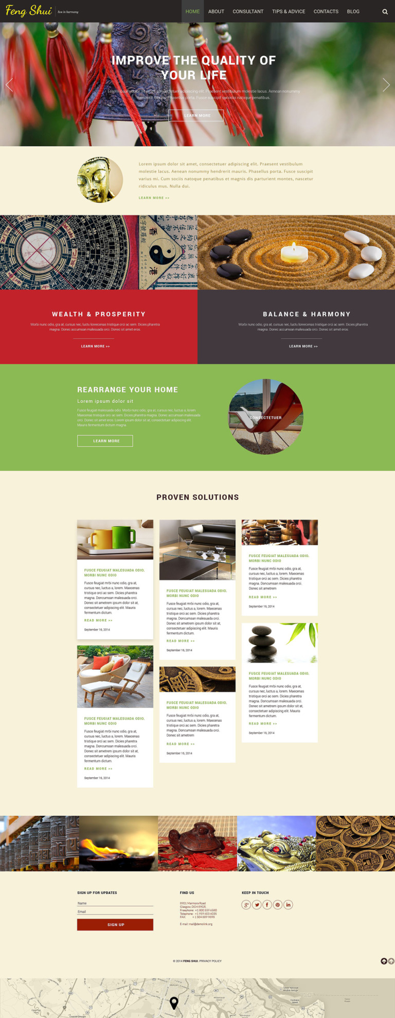 Feng Shui Responsive Website Template New Screenshots BIG