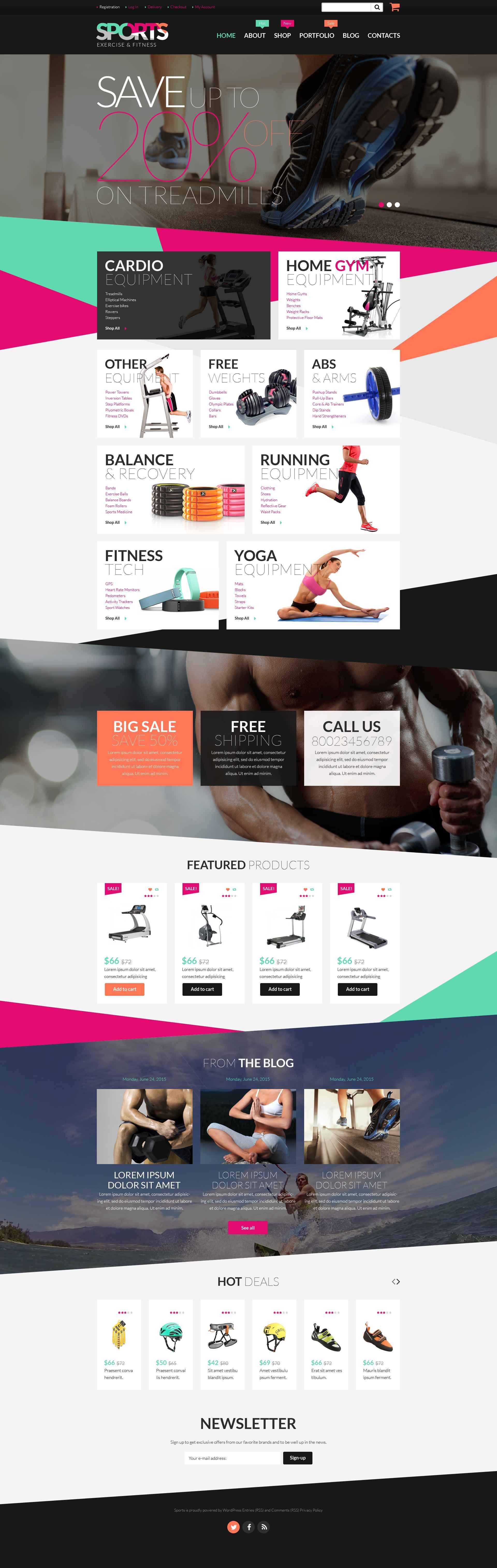 Fitness Equipment WooCommerce Theme - screenshot
