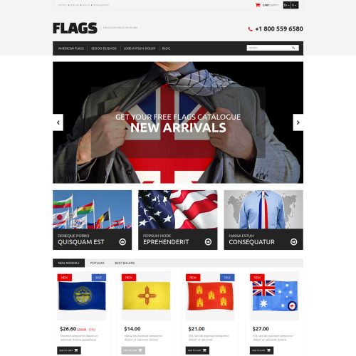 Flags  - PrestaShop Template based on Bootstrap