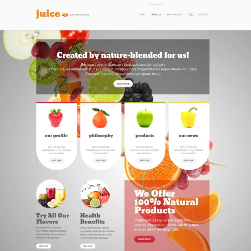Juice - WordPress Template based on Bootstrap