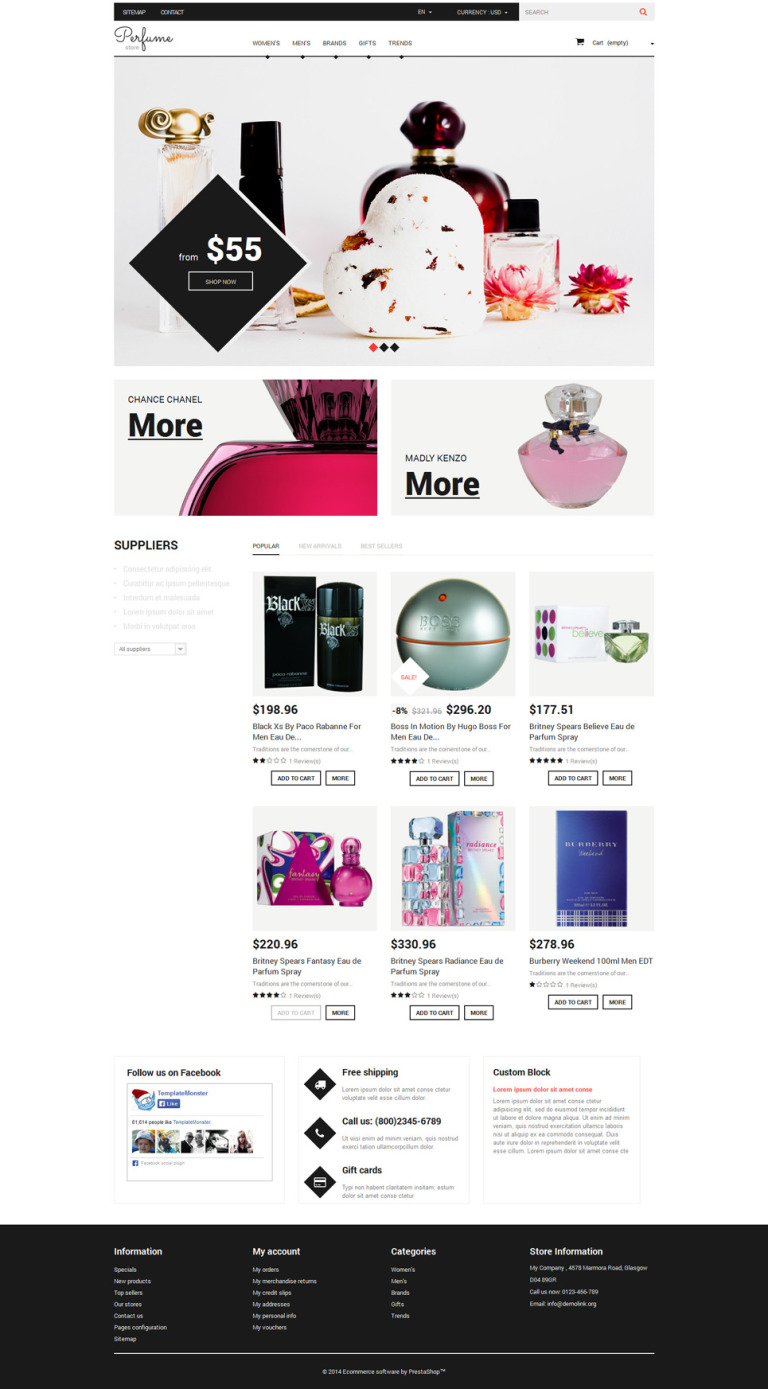 Fragrance Guru PrestaShop Theme New Screenshots BIG