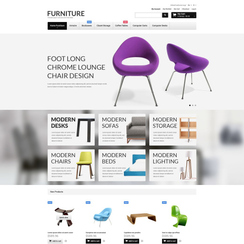 Furniture - Magento Template based on Bootstrap