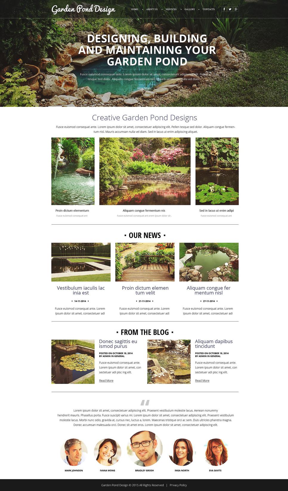 Garden Design Responsive Website Template 52638