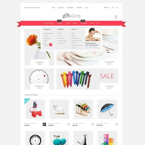 Gift Shop - Responsive Magento Template