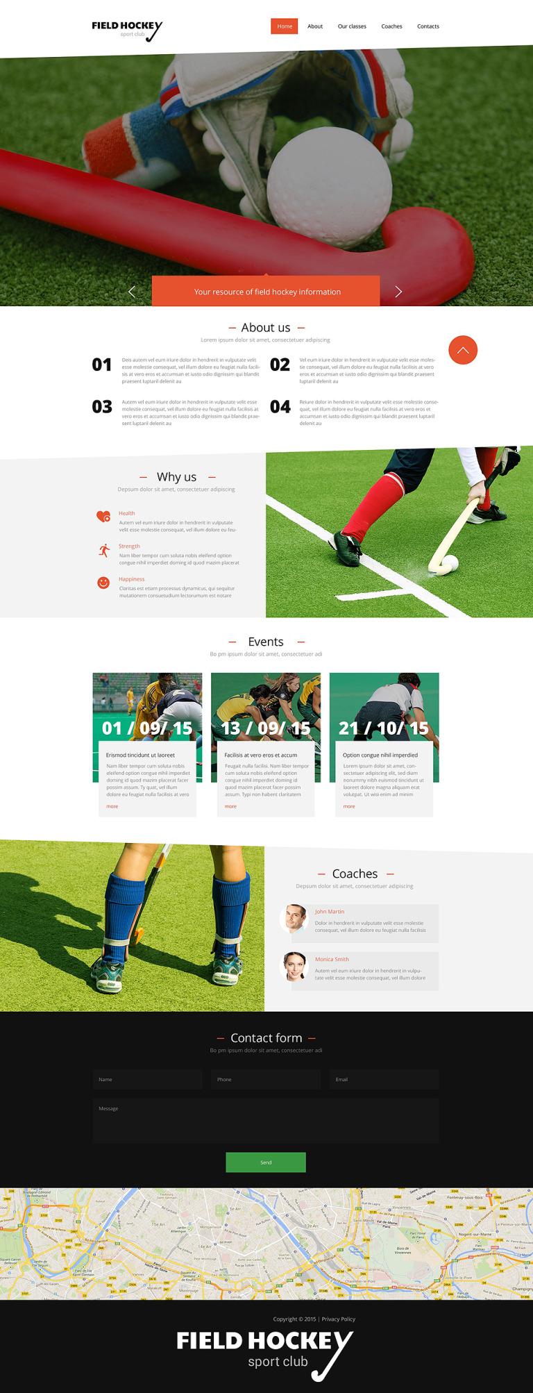 Hockey Responsive Website Template New Screenshots BIG