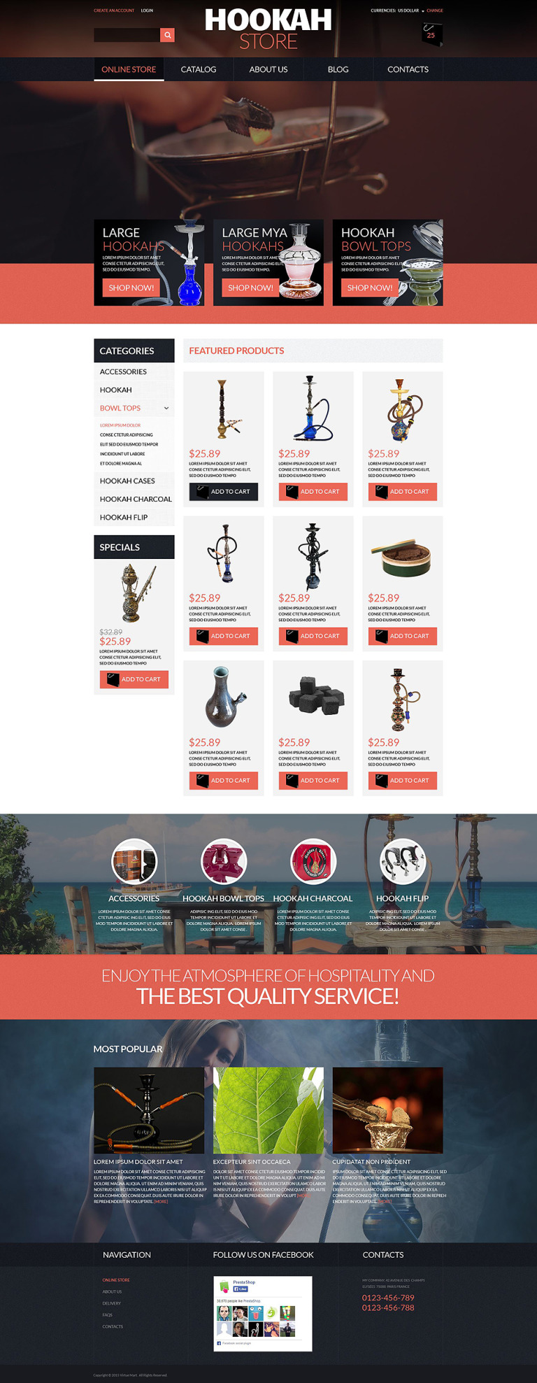 Hookah Store VirtueMart Template New Screenshots BIG