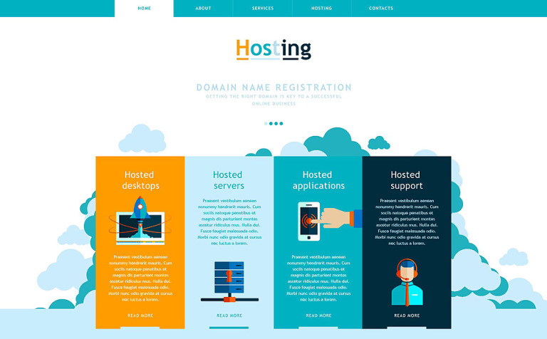 hosting muse template 52691