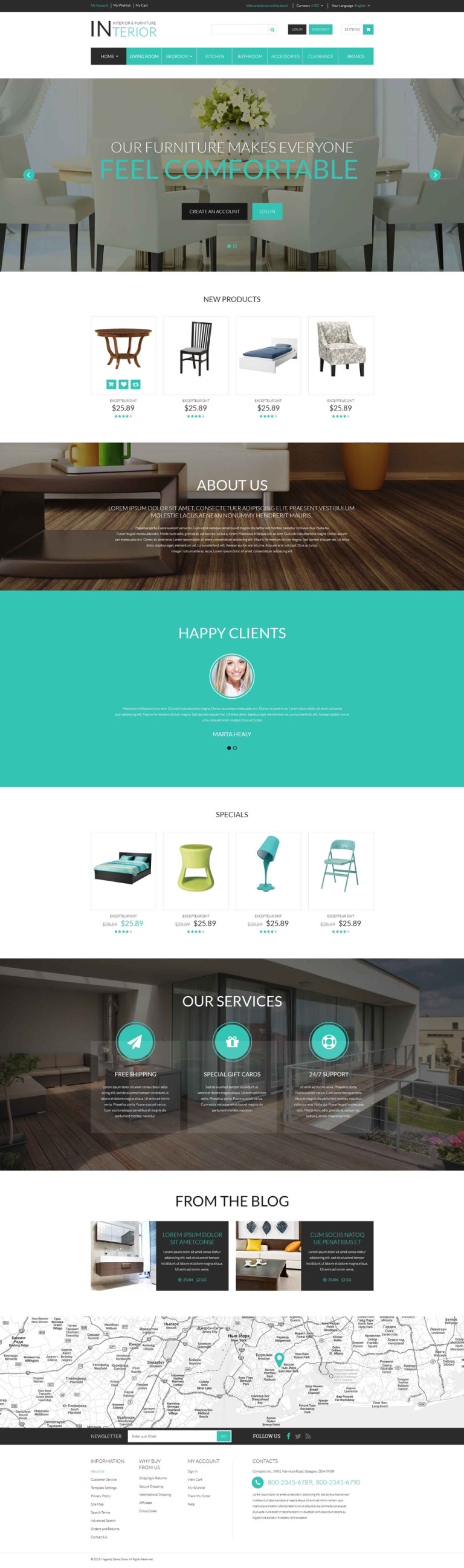 Interior & Furniture Responsive Magento Theme New Screenshots BIG
