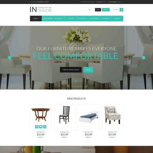 Interior & Furniture - Magento Template based on Bootstrap