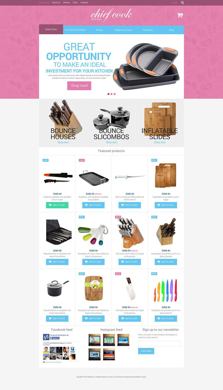 Kitchen Utensils VirtueMart Template New Screenshots BIG