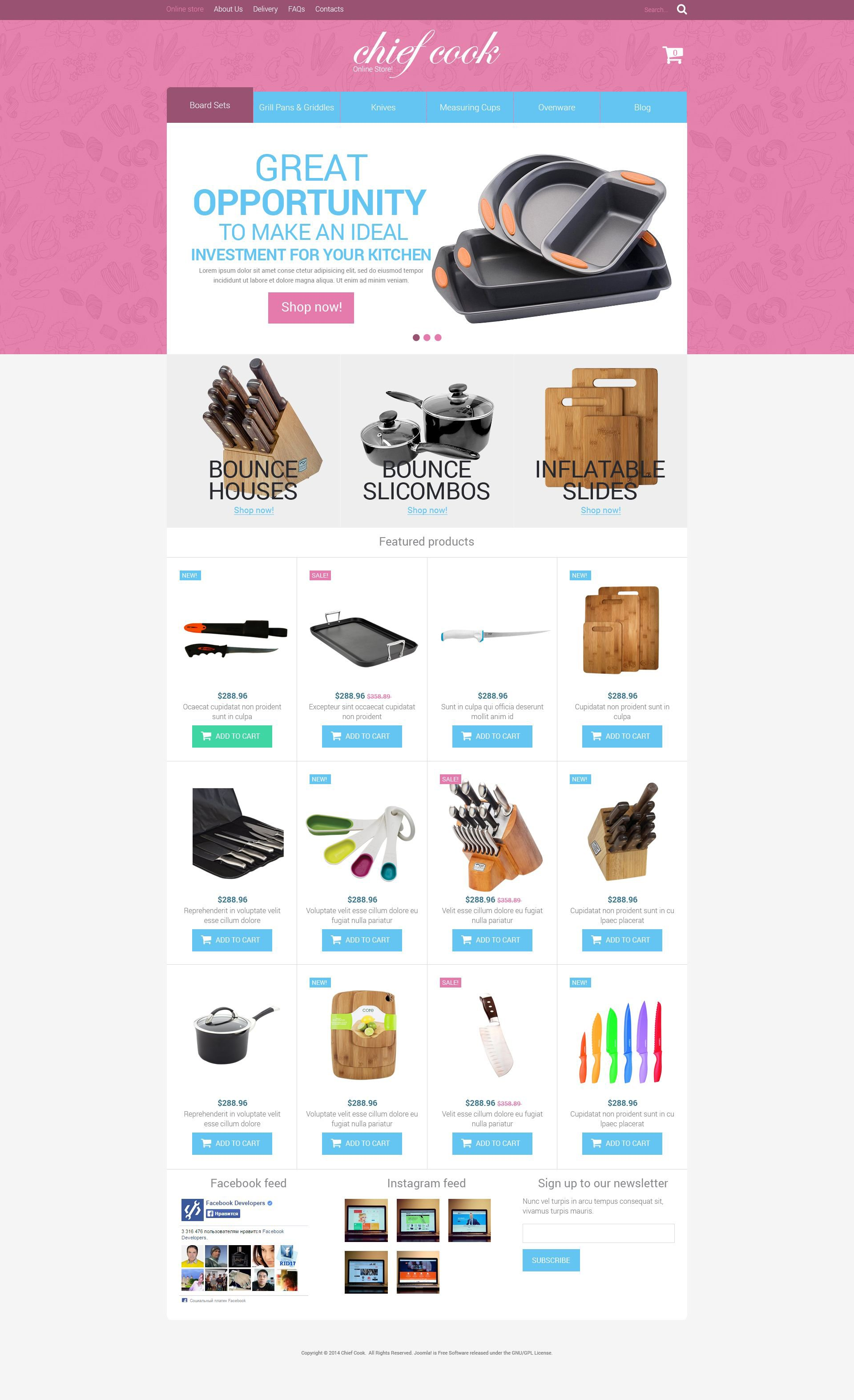 Kitchen Utensils VirtueMart Template