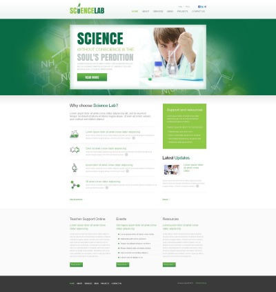 Science Lab Moto CMS HTML šablona