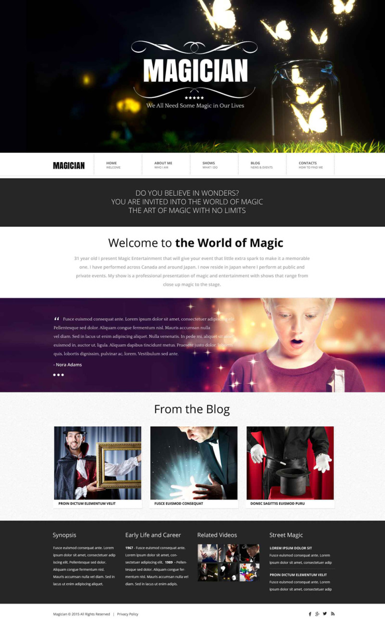 Magician Website Template New Screenshots BIG