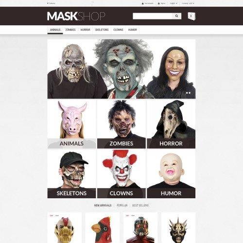 Mask Shop - PrestaShop Template based on Bootstrap