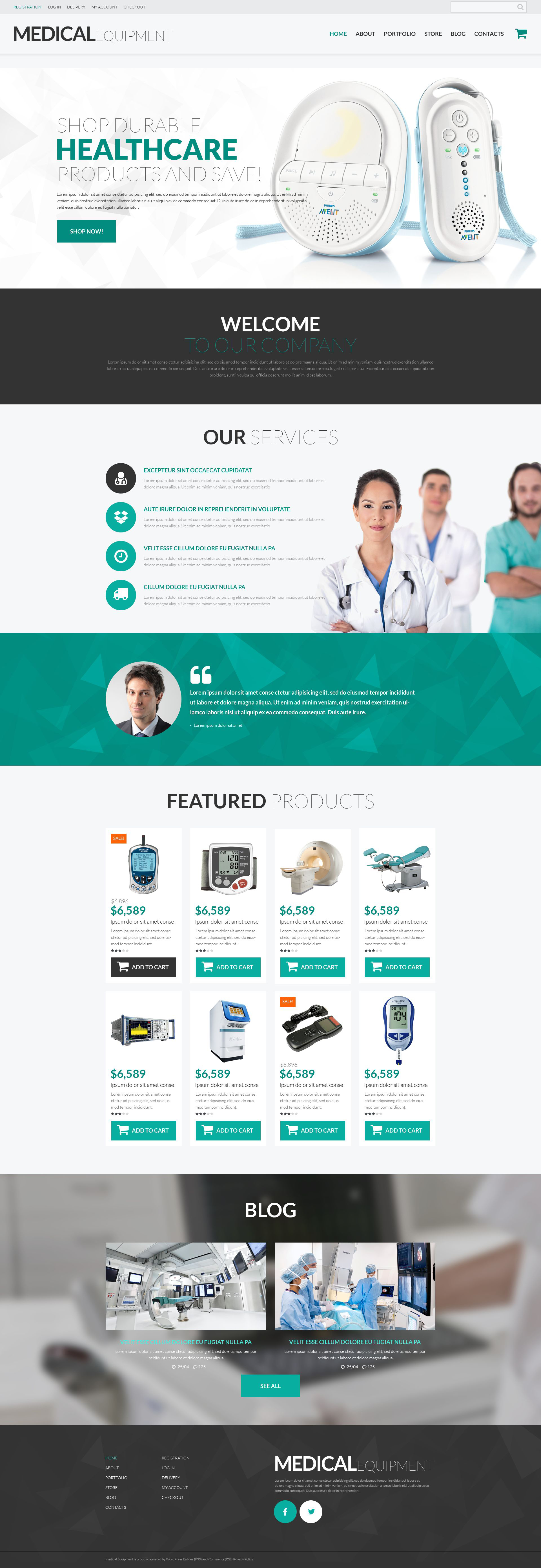 """Medical Instruments"" Responsive WooCommerce Thema №52627"