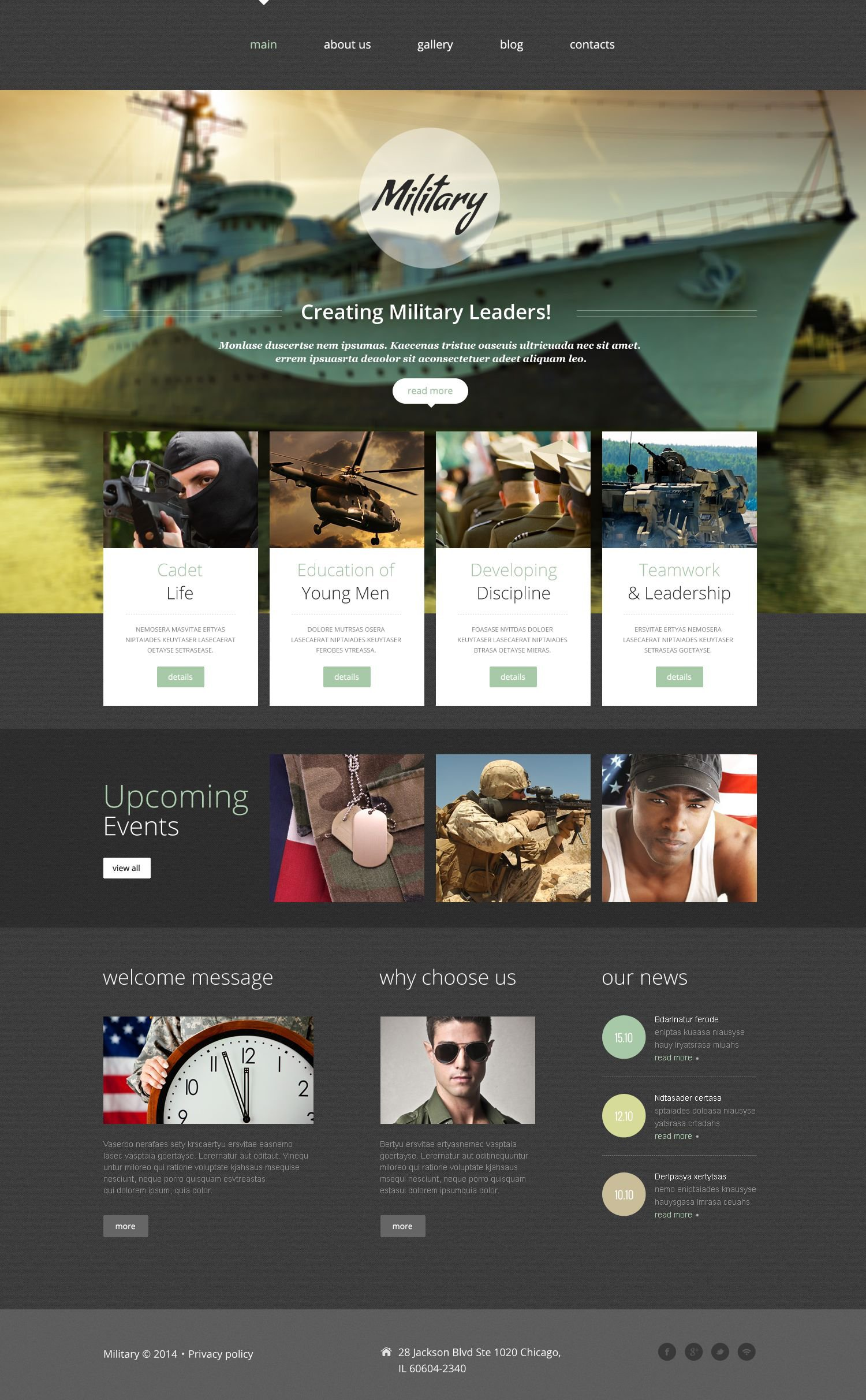 Military Website Template