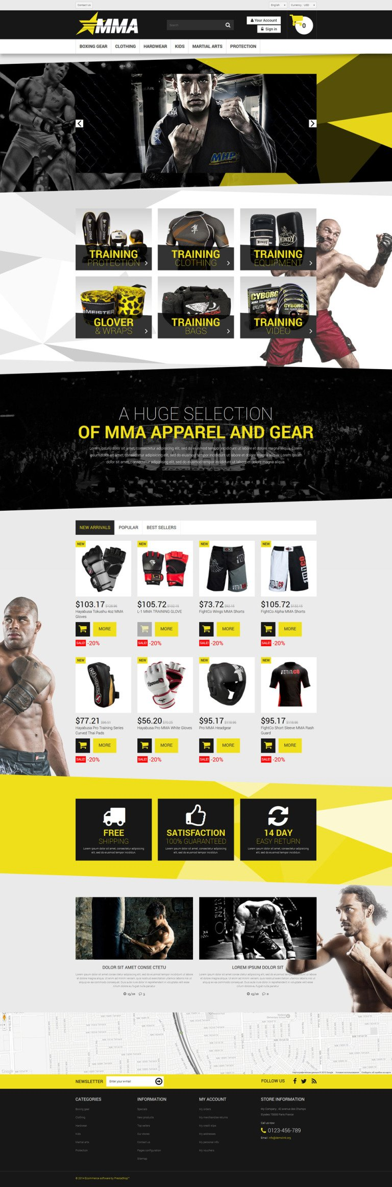 MMA Store PrestaShop Theme New Screenshots BIG
