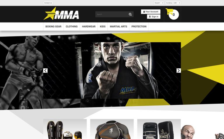 MMA Store PrestaShop Theme