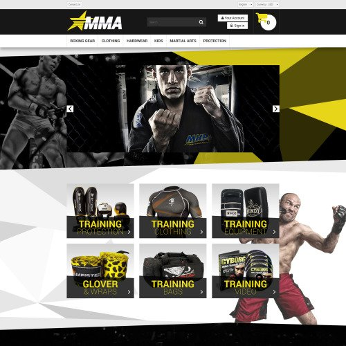 MMA Store - PrestaShop Template based on Bootstrap