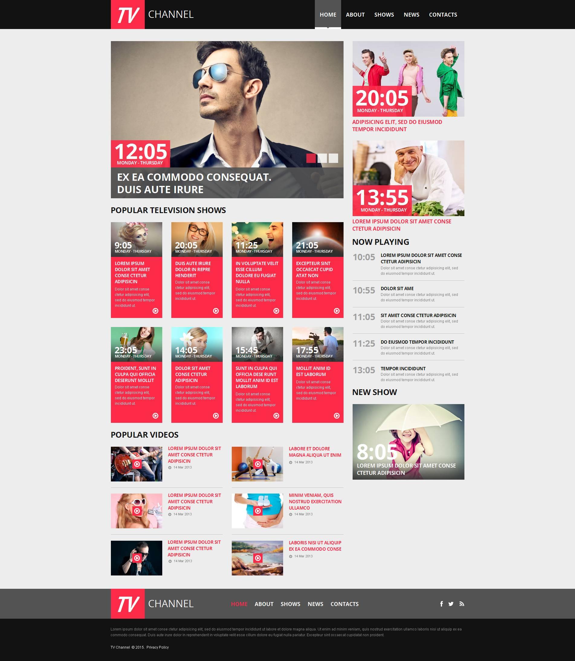 Modèle HTML de la chaîne de télévision Moto CMS