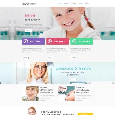 Modèle Moto CMS HTML  pour site de dentisterie