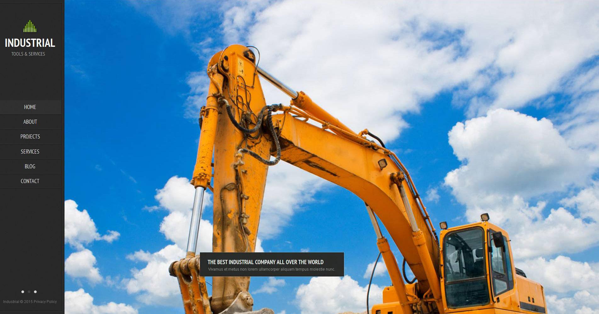 Modèle Moto CMS HTML Premium pour site industriel #52612