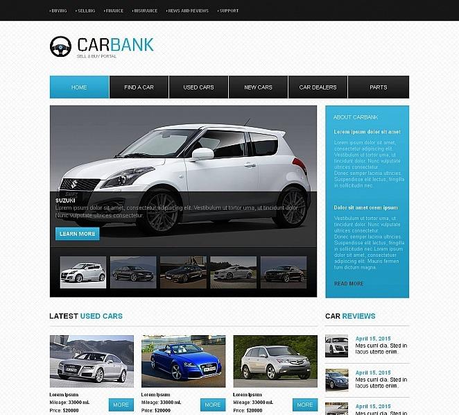 Moto CMS HTML Vorlage für Autohaus  New Screenshots BIG
