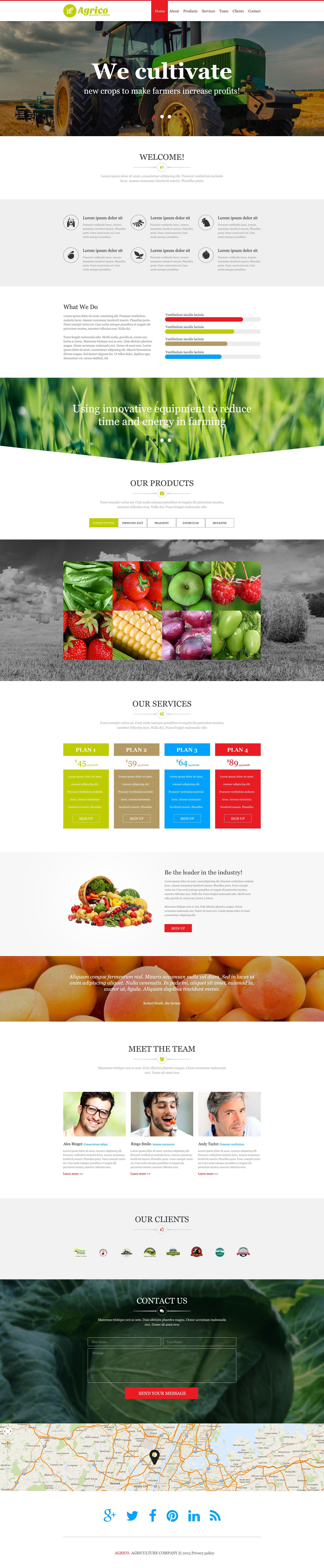 Muse шаблон №52629 на тему сельское хозяйство