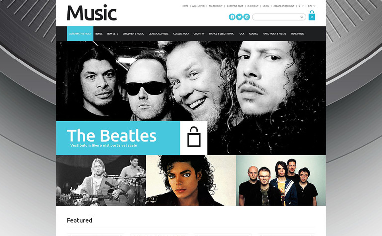 17 Music Website Themes & Templates