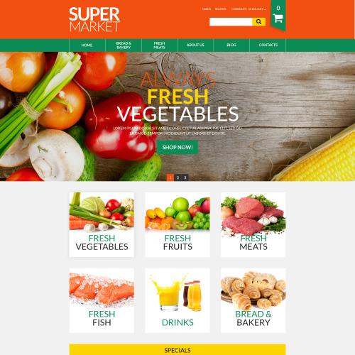 Supermarket - HTML5 VirtueMart Template