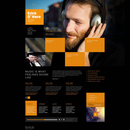 Eric O'Hara - Joomla! Template based on Bootstrap