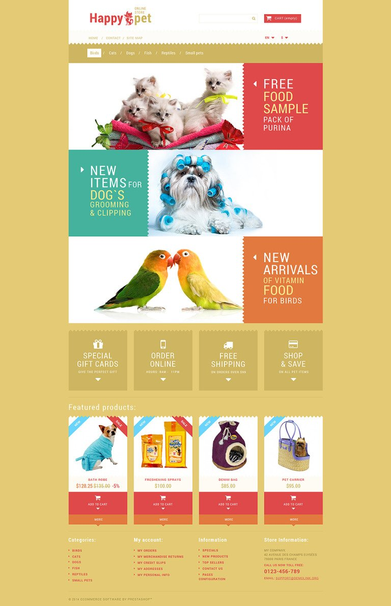 Pets Shopping PrestaShop Theme New Screenshots BIG