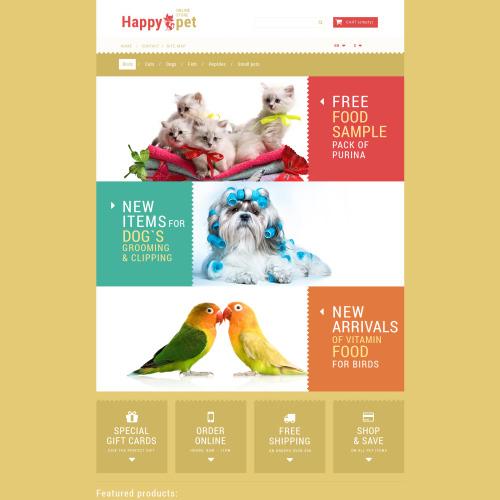Happy Pet - PrestaShop Template based on Bootstrap