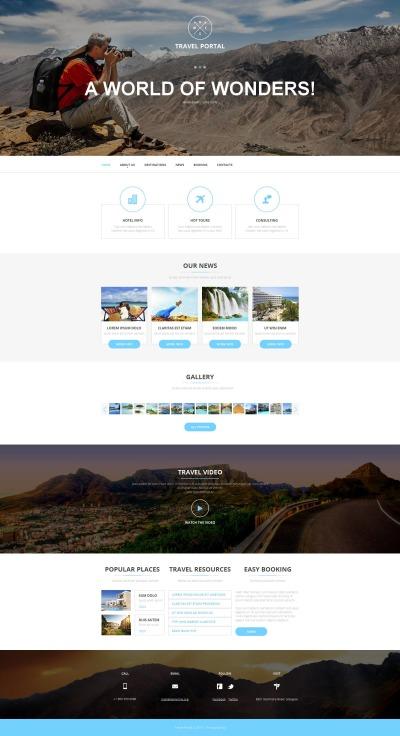Plantilla Moto CMS HTML #52622 para Sitio de  para Sitio de Guías de viajes