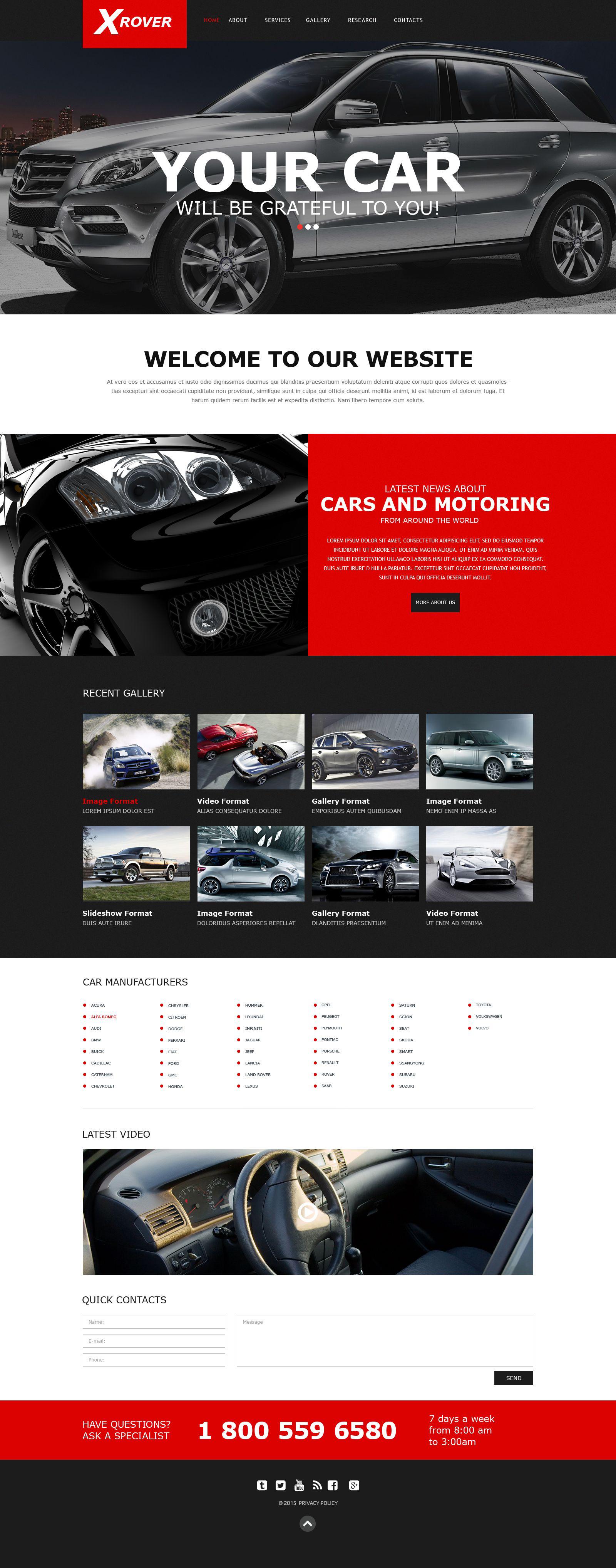 Plantilla Muse #52628 para Sitio de Clubes de coches - captura de pantalla