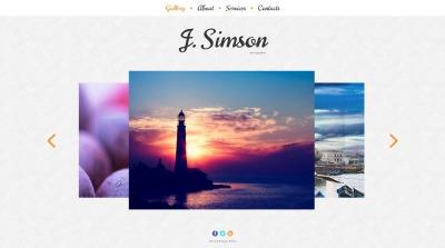 Photographer Portfolio Responsive Moto CMS HTML Sablon