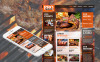 Premium Moto CMS HTML Template over BBQ restaurant  New Screenshots BIG