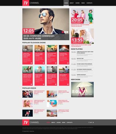TV Channel Moto CMS HTML Şablon