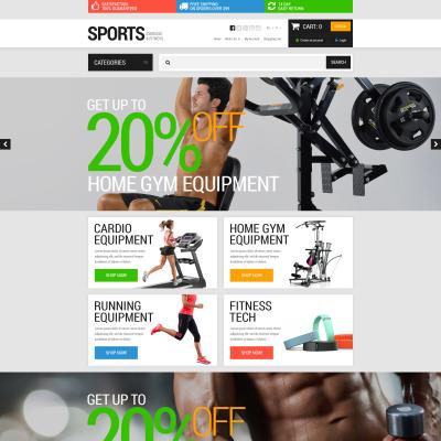 Sports Store Responsive OpenCart Şablon